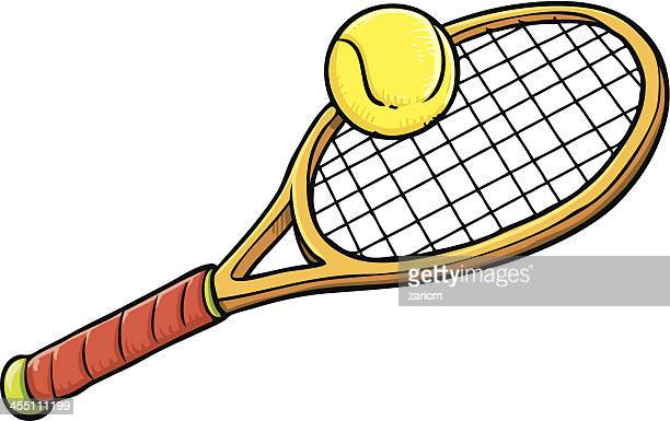 Illustrations et dessins anim s de raquette de tennis - Dessin raquette ...