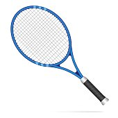 Blue tennis racket