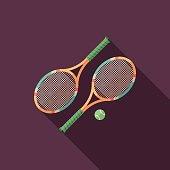 Sports. Colorful flat icon with long shadows.