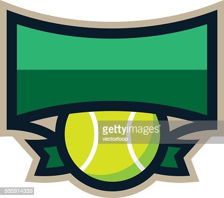 Logotipo de Escudo de Ténis : Arte vetorial