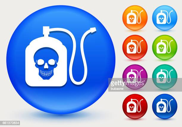Terminator Chemicals Icon on Shiny Color Circle Buttons
