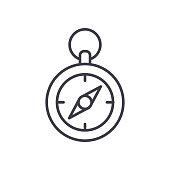 Terrain compass orientation black icon concept. Terrain compass orientation flat  vector website sign, symbol, illustration.
