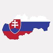 Territory and flag of Slovakia