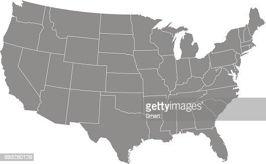 Gebiet von Vereinigte Staaten von Amerika mit Kontur : Vektorgrafik