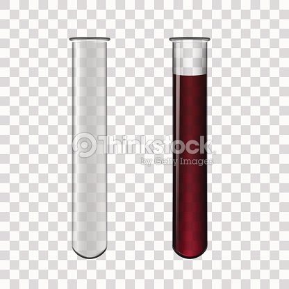 Test Tubes Filled With Blood : stock vector