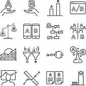 A/B testing icons set