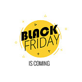 Graphics prepared for the occasion of black Friday. Made in modern style.