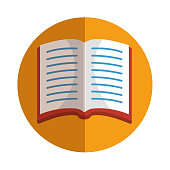 text book school icon vector illustration design