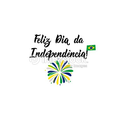 Text in portuguese happy independence day lettering vector text in portuguese happy independence day lettering vector illustration design concept banner card brazil independence day greeting card m4hsunfo
