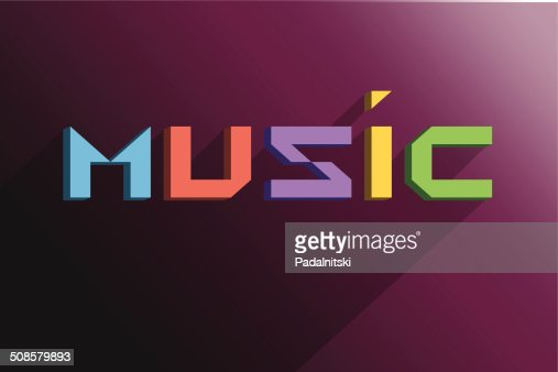Text music background : Vector Art