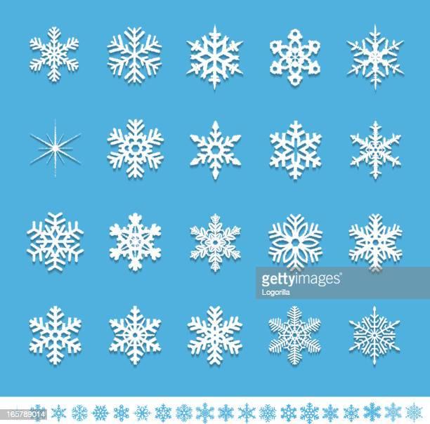 Strukturierte Schneeflocke Symbole