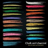 Textures of chalk and coal. Vector brush strokes. Soft pastel colors. Decorative frame. High resolution image. Grunge pattern. Template for registration of stickers, banners, posters.