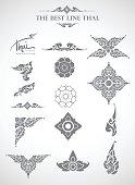 Thai art style vector