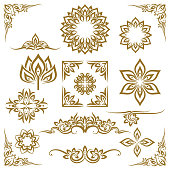 Thai ethnic decorative elements vector. Element ethnic, decorative ornament, ethnic thai illustration