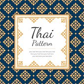 Thai Pattern Template, Background, Vector