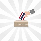 Thailand Elections Vote Box Vector Work