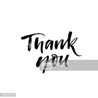 Carte de remerciement. : Clipart vectoriel