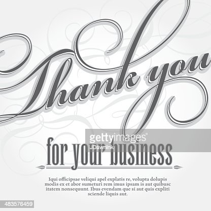 Thank You For Your Business Design Card Template Vector Art Getty Images
