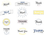 Thank you sign. Vector calligraphy design template.