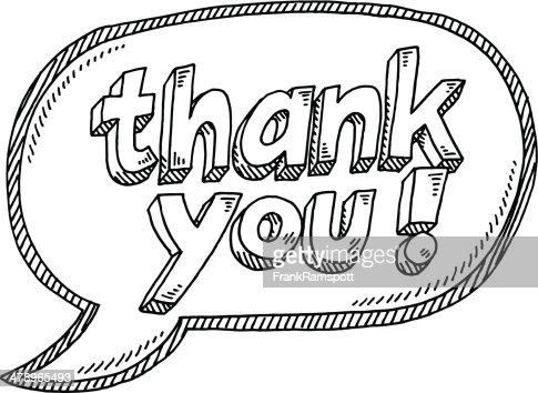 Thank You Speech Bubble Drawing Vector Art | Getty Images