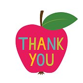 Thank you Teacher's Day vector card