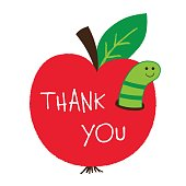 Thank you Teachers Day vector card