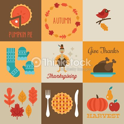 Thanksgiving and autumn greeting cards design with flat stylish thanksgiving and autumn greeting cards design with flat stylish vector art m4hsunfo