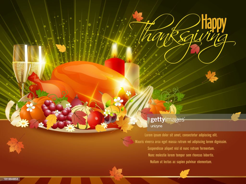 Thanksgiving celebrations background vector art getty images