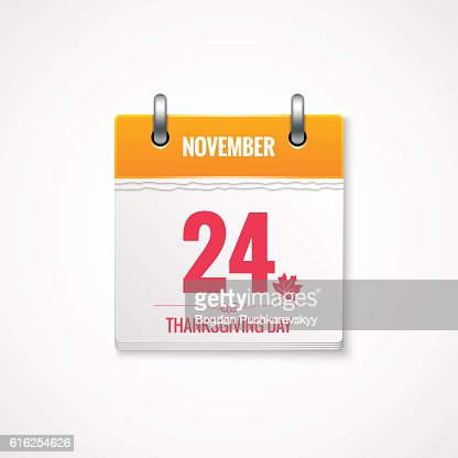 Thanksgiving Day calendar event background : Vector Art