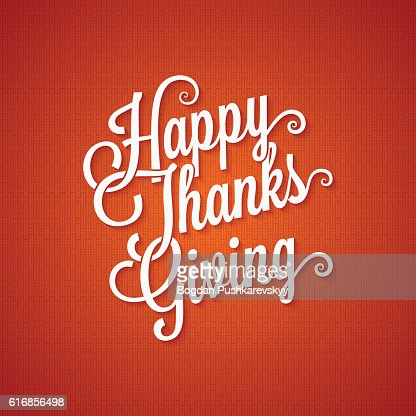 thanksgiving day vintage lettering background : Vector Art