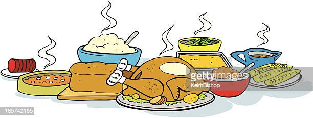 Dinner Stock Illustrations And Cartoons Getty Images : thanksgiving dinner turkey vector id165742165s612x612 from www.gettyimages.com size 612 x 232 jpeg 27kB