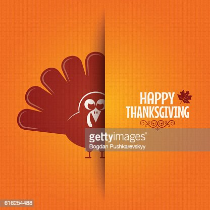Thanksgiving turkey greeting card background : Arte vetorial