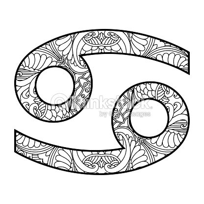 The Decorative Icon For The Zodiac Sign Cancer Vector Art Thinkstock