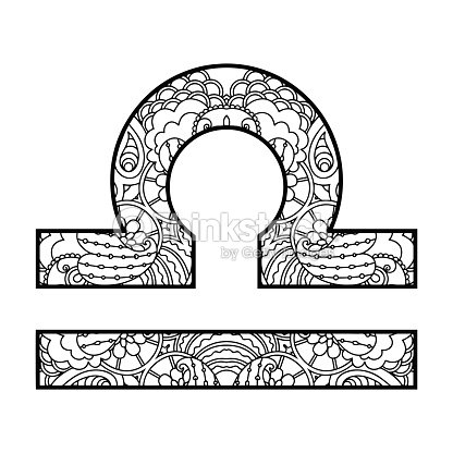 The Decorative Icon For The Zodiac Sign Libra Vector Art Thinkstock
