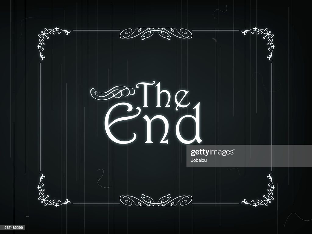 The End Of An Old Movie : Vector Art