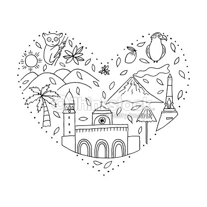 The Heart With Symbols Of Philippines Vector Art Thinkstock