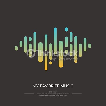 The Image Of The Sound Wave Vector Art | Thinkstock