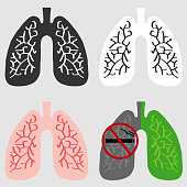 The lungs of man. Flat design, vector illustration, vector.