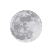Layered of beautiful bright full moon. The supermoon isolated on white background. The moon taken with my camera. Vector illustration. EPS 10