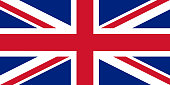 The official flag of great Britain. Vector illustration.