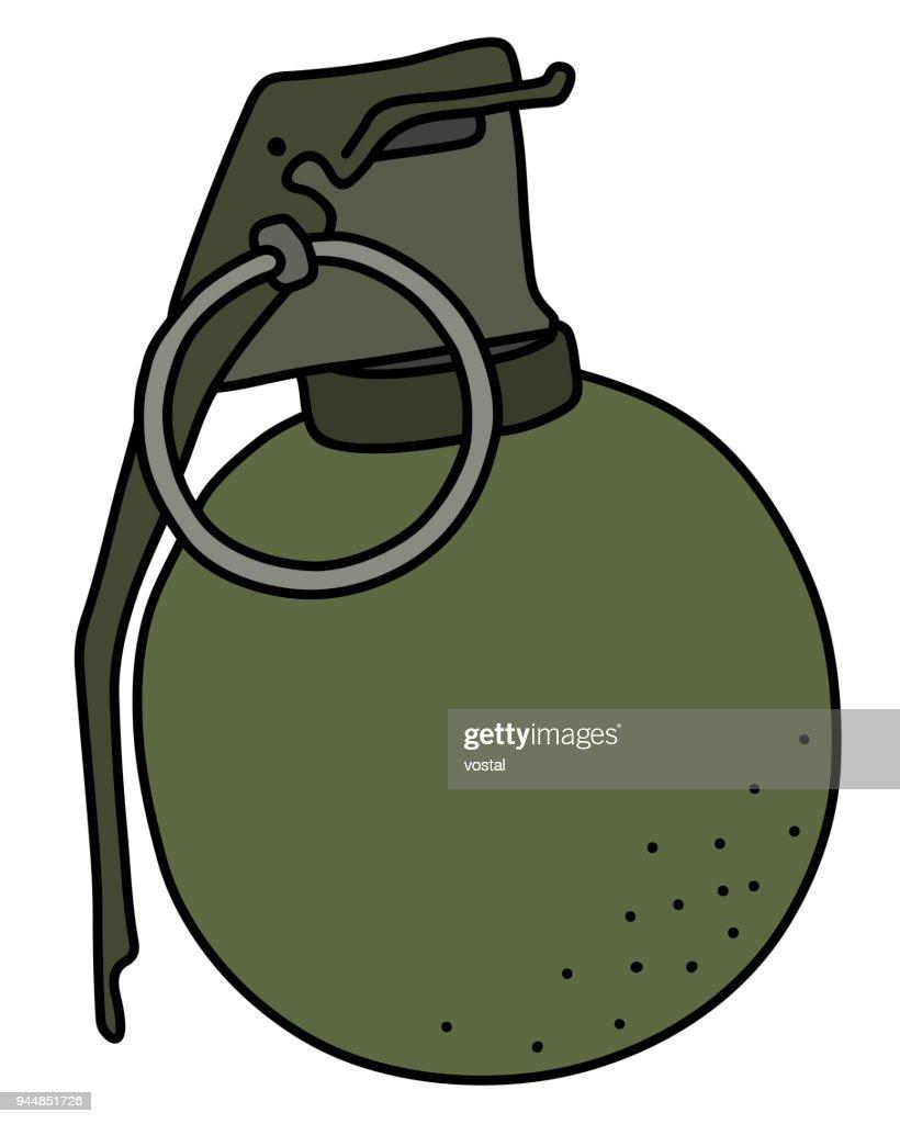 la grenade main attaque vieux clipart vectoriel thinkstock rh thinkstockphotos fr grenade vectoriel grenade vector