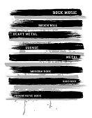 rock type typography, ink brush, lines. vector,t-shirt design