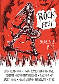 The poster for the rock festival of heavy metal music . A man with long hair playing the guitar. A crowd of fans showing devil horns gesture. Vector illustration.