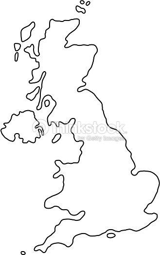 La Carte Du Royaumeuni De Grandebretagne Et Dirlande Du