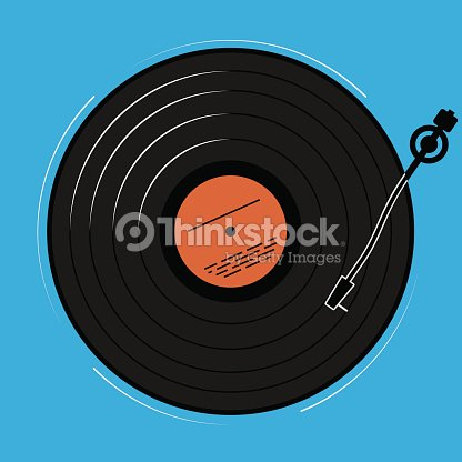 The Vinyl Player Shown Schematically And Simply A Record With Music on