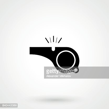 The whistle icon : stock vector