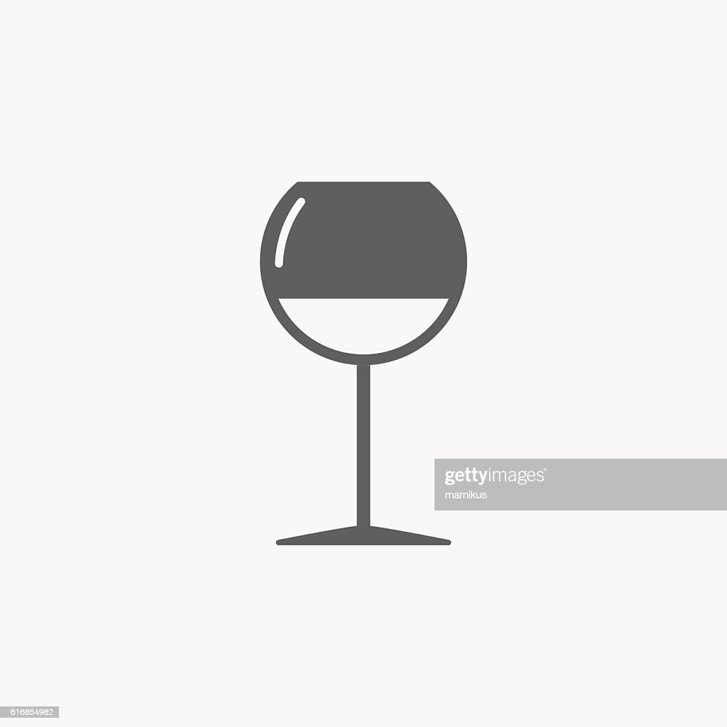 The wineglass icon. Goblet symbol : Vector Art