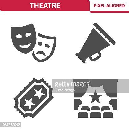Teatro iconos : arte vectorial