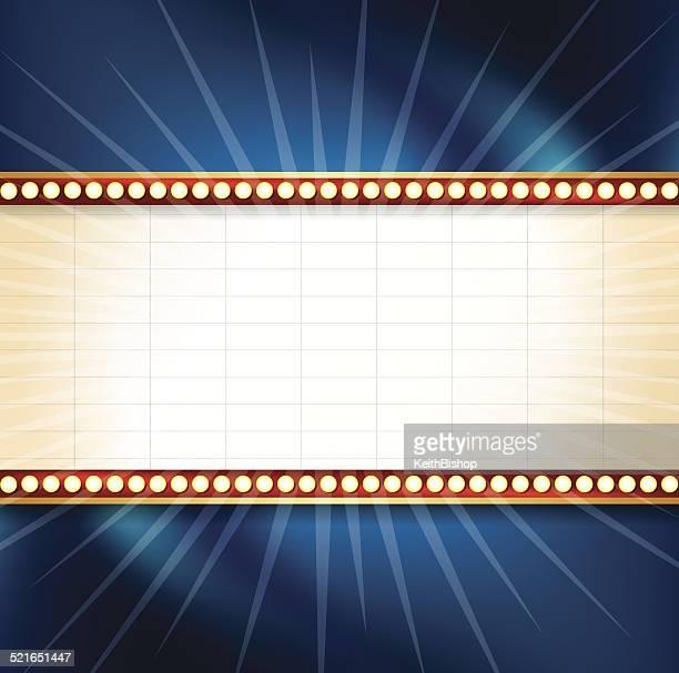 Anzeigetafel für Kino oder Theater Hintergrund