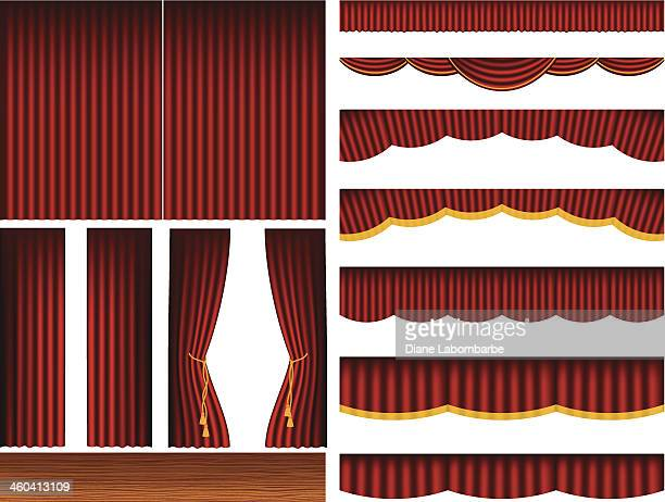 Theatre Stage Curtains Set